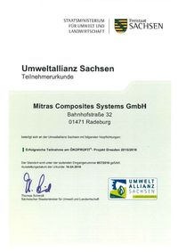 Certificate Environmental Alliance Saxony